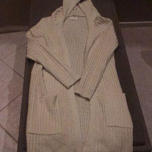 LA Hearts Long Beige Sweater Cardigan